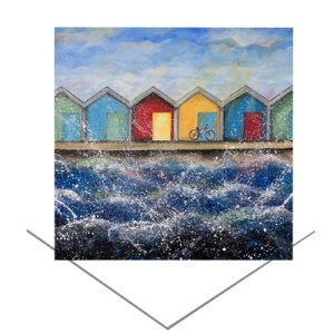 Beach Huts in Sunshine Greeting Card