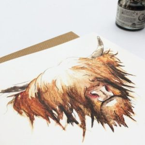 Highland Cow Card (pack of 6 cards) - card Highland Cow 1024x1024@2x 500x500