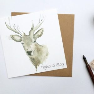 Highland Stag Card Card (pack of 6 cards) - card Stag 1024x1024@2x 500x500