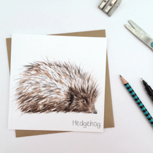 Hedgehog Card (pack of 6 cards) - crd hedge 500x500