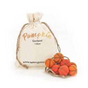 Handmade Felt Home Décor Halloween Pumpkin Garland