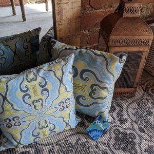 Two Cushion Set Summer River Lemon - Vegan - k2 Summer River Cushion Set 500x500
