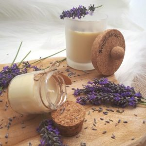 100% Natural Wellness Candle Bouquet of Lavender Scent