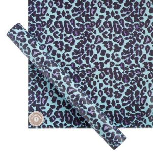 Locker Days Blue Leopard Locker Wallpaper with Magnets