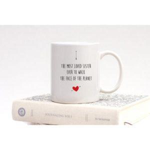 Most Loved Sister Standard Mug - mostlovedsisteronwhitebook 1024x1024@2x 500x500