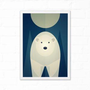 Mid Century Polar Bear Print 3 sizes