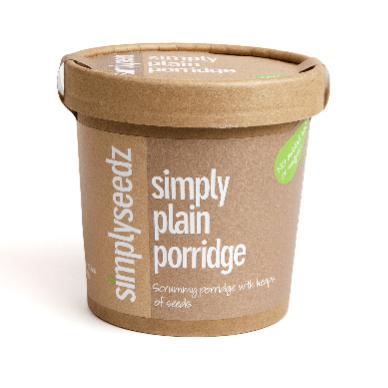 SIMPLY PLAIN Vegan & Dairy Free Instant Porridge Pot 60g (pack of 24)