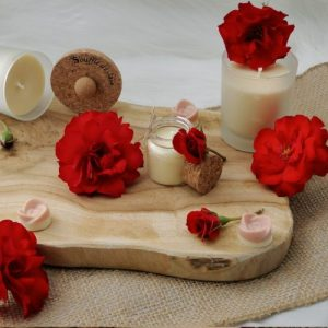 100% Natural Wellness Candle Passion Rose Scent