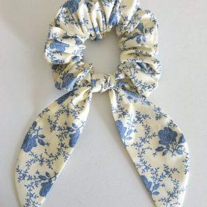Handmade Hair Bow scrunchie. Made in England