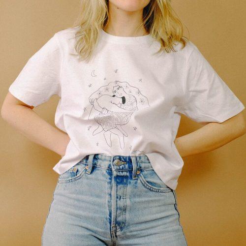 """""""Yin and Yang"""" Cropped Cotton T-shirt. - shirt1 500x500"""