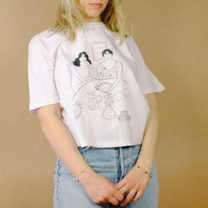 """""""Girls"""" Cropped Cotton T-shirt - shirt4 500x500"""