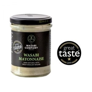 The Wasabi Company Wasabi mayonnaise 175gx6 - wasabi mayo white background large GT logo 500x500