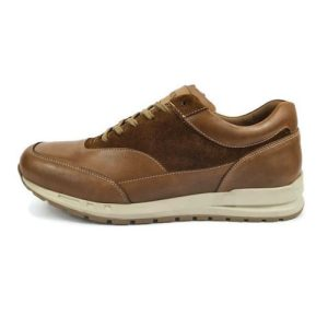 Men's Real Genuine Smart Casual Leather and Suede Trainers