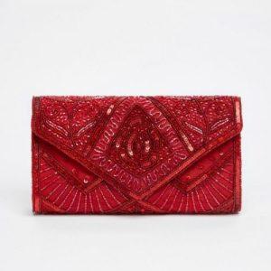 SCARLET HAND EMBELLISHED CLUTCH BAG IN RED - 10 scarlet bag red f 500x500