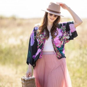 From My Mother's Garden Harmony: Hydrangea Lightweight Kimono