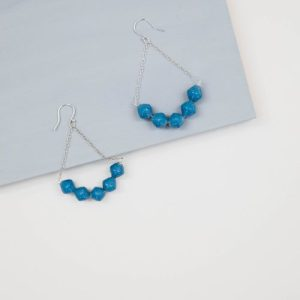 Azalea Drop Earrings - Warm Blue - 2 AzaleaWarmBlue 500x500