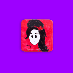 Amy Winehouse Magnetic Coaster - 2 amy w 500x500