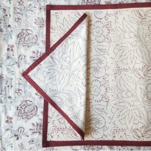 Placemat Flower Red