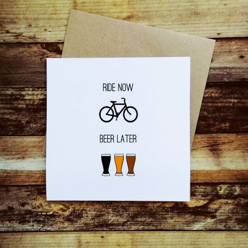 Cycling Card – Ride now, Beer Later (Pack of 5)