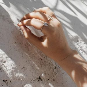 Sterling Half Moon Ring - pack of 3 - 21 moon ring 500x500