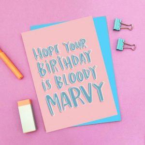 Marvy Birthday Card pack of 6