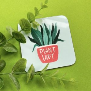 Plant Lady Coaster pack of 6