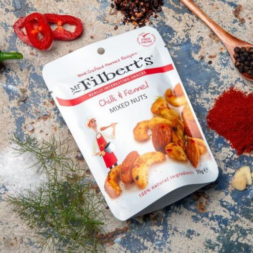 Pocket Snacks Chilli & Fennel Mixed Nuts 50g pack of 12 - 212 Pocket Snacks Chilli Fennel Mixed Nuts 50g 500x500