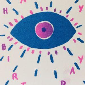 A6 Card x6 Happy Birthday Eye