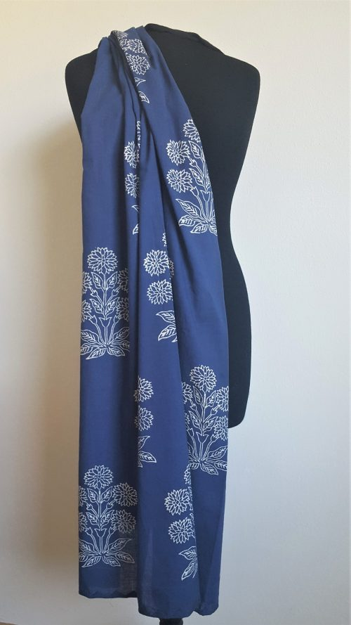 Shawl 'Marigold Khadi' Blue
