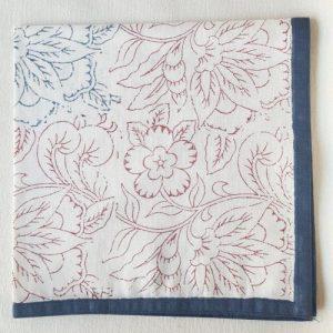 Napkin Flower Blue, Outline Block
