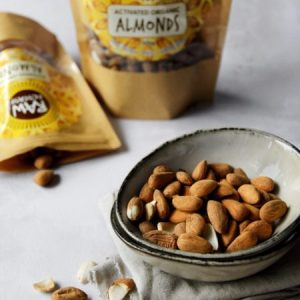 Activated Organic Almonds 300g pack of 3