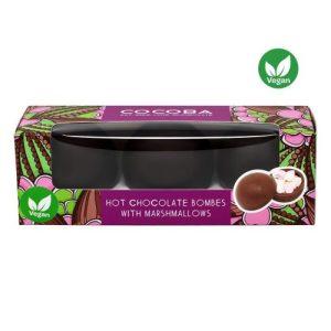 VEGAN HOT CHOCOLATE BOMBES WITH MINI MARSHMALLOWS (3-pc box), pack of 6 - 5 DSC 1390web2 1200x1200 500x500