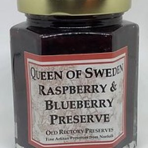 """""""Queen of Sweden"""" Raspberry & Blueberry Preserve 220g pack of 6 - 6 3"""