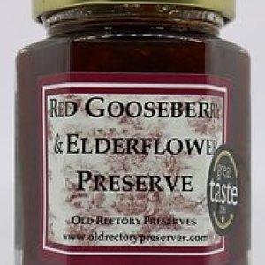 Red Gooseberry & Elderflower Preserve 220g pack of 6 - 8 3