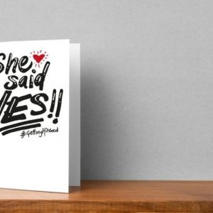The Happy Couple – She Said Yes!! Greeting Card