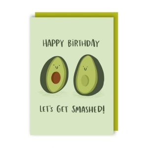 Smashed Avocado Birthday Card pack of 6