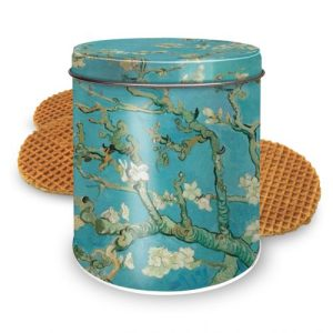 Round tin Van Gogh Almond Blossom with Syrup Waffles