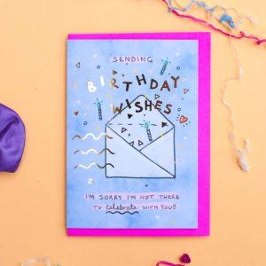Alice Loveday x6 Cards Sending Birthday Wishes