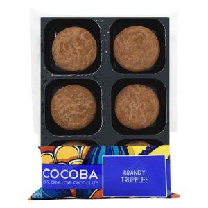 BRANDY TRUFFLES, pack of 8 - Brandy Chocolate Truffles Tray Wrapped 500x500