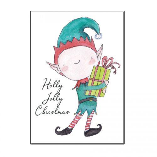 A6 XMAS ELF CHRISTMAS GREETING CARD