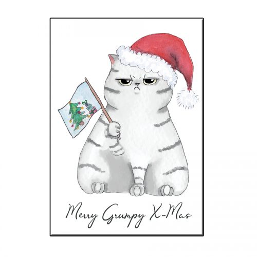 A6 GRUMPY CAT CHRISTMAS GREETING CARD