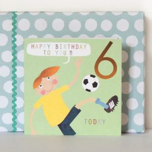 CP06 football six card with copper foiled number