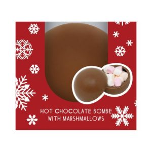 CHRISTMAS HOT CHOCOLATE BOMBE IN A BOX, pack of 12