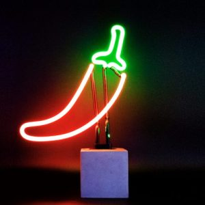 Neon 'Chilli Sign' - Concrete Base Neon Chilli Web 500x500