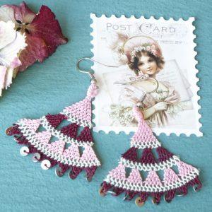 Floral Needle Lace Earrings - Various Colors - EARRINGS 114 5 verna artisan works 500x500