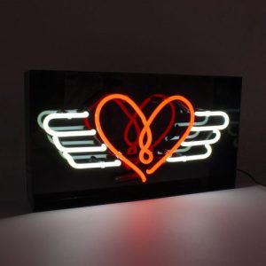 'Flying Heart' Acrylic Box Neon - Flying Heart Web 500x500