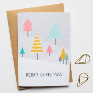 Merry Christmas Greeting Card - Geometric Modern Christmas Cards 3 500x500
