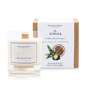 The Suffolk – Amber and Sweet Orange Soy Candle