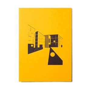 A3 Screen print: Hepworth - Turmeric - LKS Hepworth Turmeric