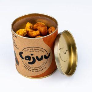 Mango Moa Cashew Nuts Tube (Case x 6) - Mango Moa Tube open 500x500